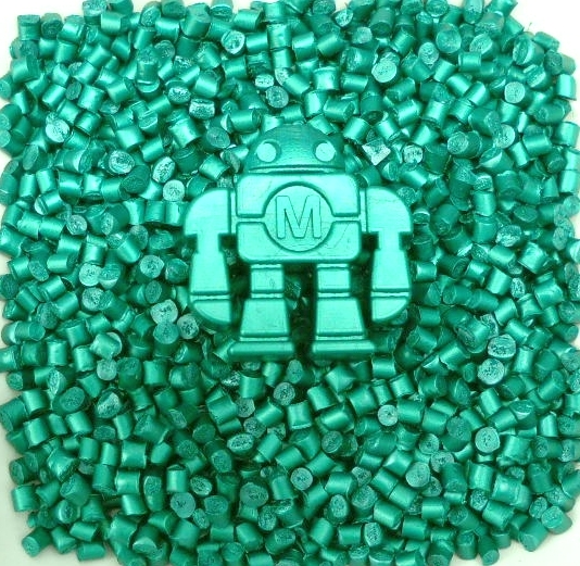 Dark Green Polyethylene Pellets